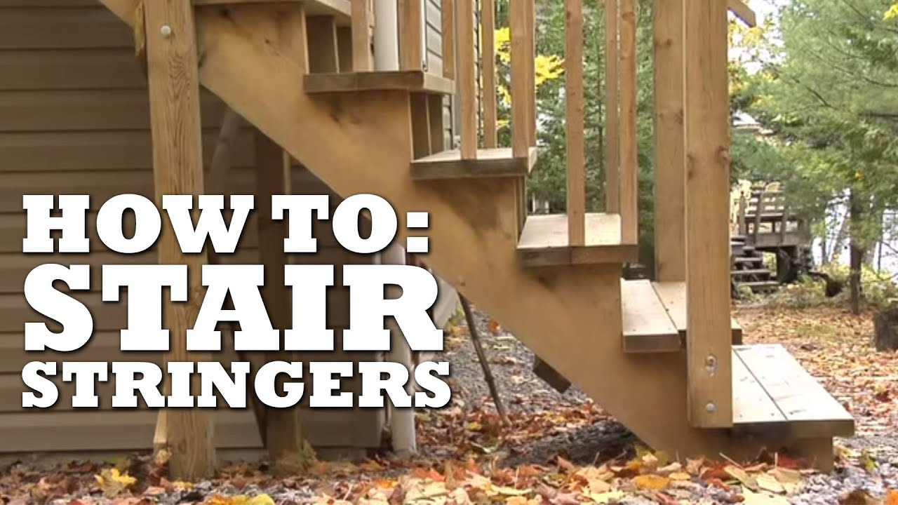 How To Build Stairs For Deck Youtube