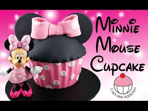 Minnie Mouse Cake! How to Make a Giant Minnie Mouse Cupcake with Cupcake Addiction