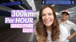 Bullet Train In China 🚅   Shanghai To Chengdu 🐼  Bullet Train Travel Vlog