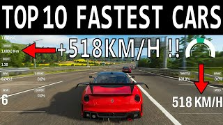 NEW TOP 10 Fastest Cars in Forza Horizon 4 | TOP SPEED +518 KM/H !!