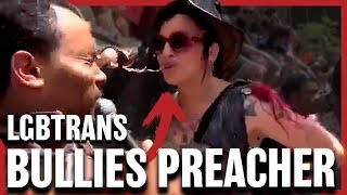 Video: Why hate Christians and Spit on them? - David Lynn vs LGBT Parade