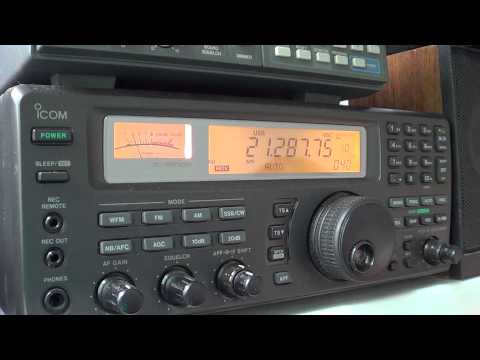 HA3FTA amateur station in Hungary icom ic r8500