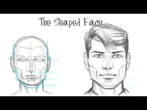Видео как нарисовать мужское лицо