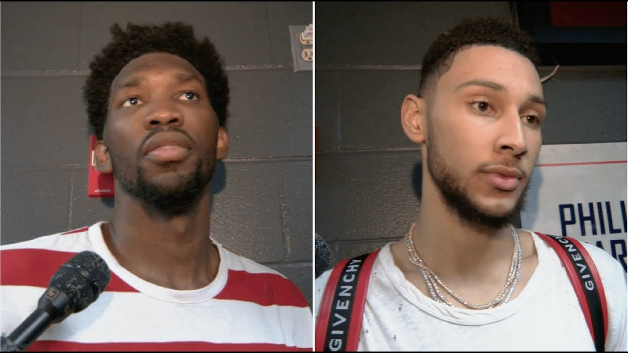Joel Embiid and Ben Simmons talk 76ers win over Lakers   ESPN