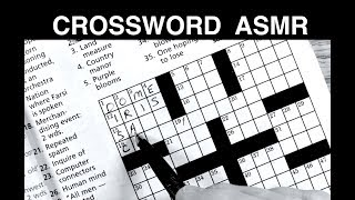 Crossword Puzzle on Stormy Night - ASMR