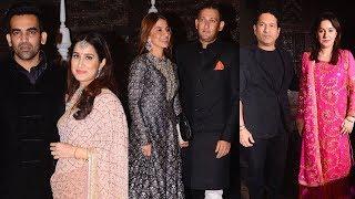 Zaheer Khan's Wedding Reception Full HD Video  Sachin Tendulkar, Ajit Agarkar