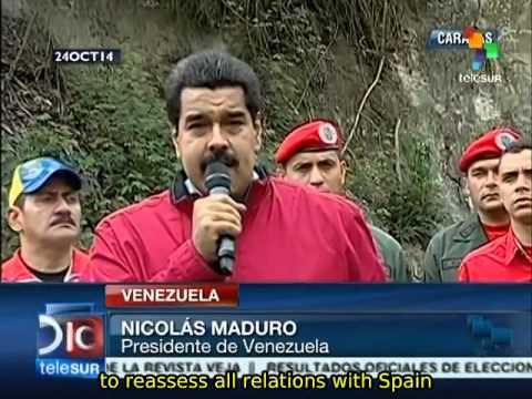 Maduro orders reassessment of Venezuela-Spain relations