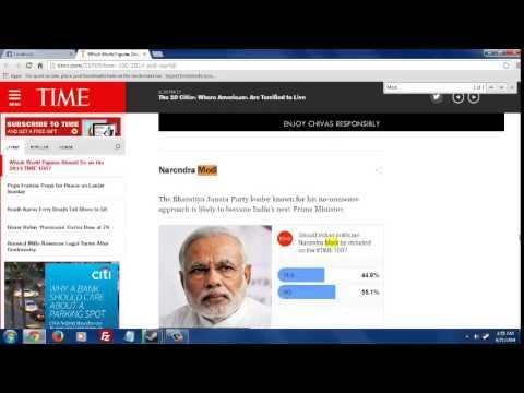 Narendra Modi Fake Voters on Time.com ?