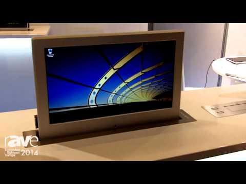 ISE 2014: Soltec Exhibits Its New Retractable Table-Top Monitors