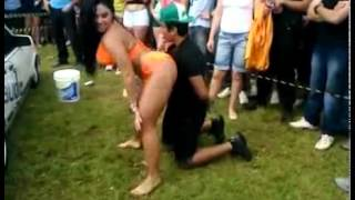 Cockblocked  Girlfriend Catches Her Man Getting A Lap Dance From Brazilian Woman!