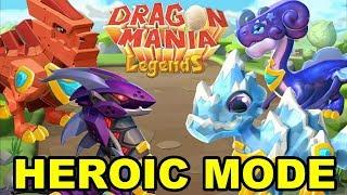 All 19 HEROIC MODE Boss Dragon Battles! - Dragon Mania Legends (Level 80 MINI FINAL BOSS FIGHT)