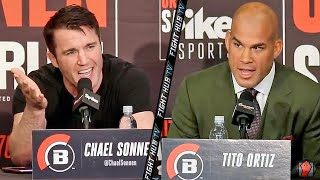 The Hilarious Tito Ortiz vs  Chael Sonnen Full Press Conference video - Bellator 170
