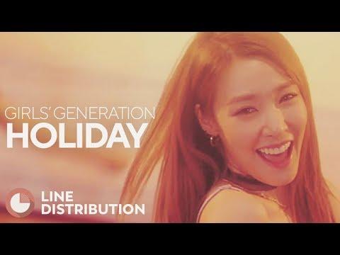 GIRLS' GENERATION - Holiday (Line Distribution)