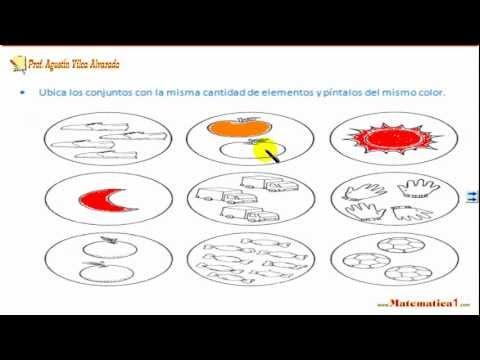 LOS CONJUNTOS EN MATEMATICAS KINDER PARA NIÑOS DE 4 Y 5 AÑOS - YouTube