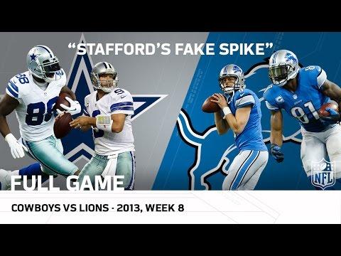 Stafford's Fake Spike & Calvin's 329-Yard Game | Cowboys vs. Lions (Week 8, 2013 - Full Game) | NFL