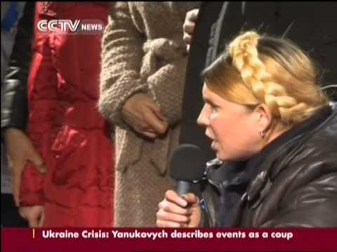 Tymoshenko delivers speech in Kiev after release