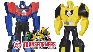 Transformers Robots in Disguise Game Toys: Titan Guardians Optimus Prime, Bumblebee