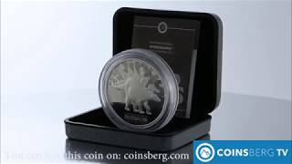 Coinsberg TV: 2002 Tuvalu $5 silver proof coin Stegosaurus Dinosaur series 2 Oz - Video