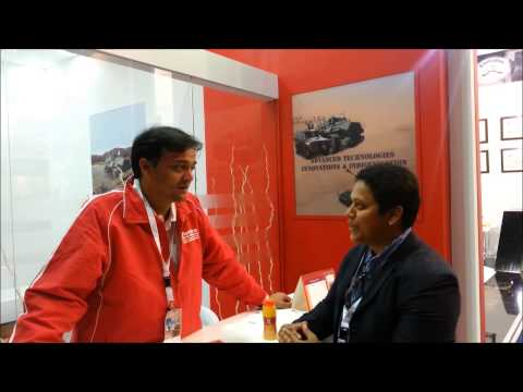 IDEX 2015 - Mr. Rajiv Gupta - CEO Mahindra Emirates Vehicle Armouring at Exhibition Stand