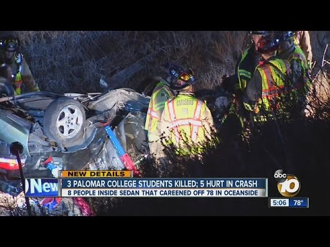 Victims in SR-78 crash identified as Japanese students attending Palomar College
