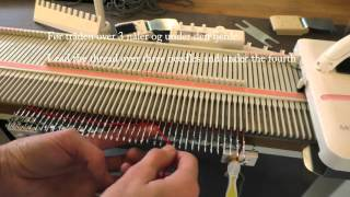 Strikke vevmønster på en LK150 / Manual weaving on a LK150