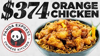 $374 Panda Express Orange Chicken Taste Test | FANCY FAST FOOD