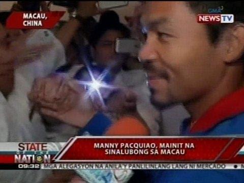 SONA: Manny Pacquiao, mainit na sinalubong sa Macau