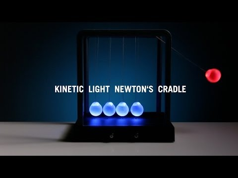 Kinetic Light Newton s Cradle from ThinkGeek