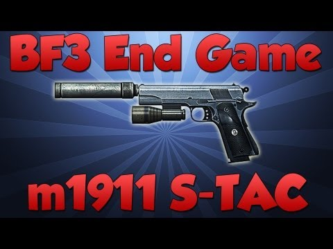 BATTLEFIELD 3 M1911 S-TAC END GAME GAMEPLAY (New Gun BF3)