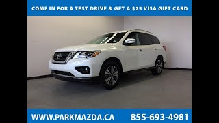 WHITE 2018 Nissan Pathfinder SV 4WD - Bluetooth, Backup Cam, Heated Seats & Steering Wheel  Review S