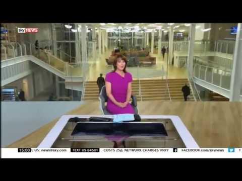 Sky News: 3pm open in new studio: 24th October 2016