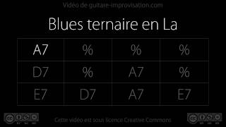 Blues Backing Track in A (90bpm)