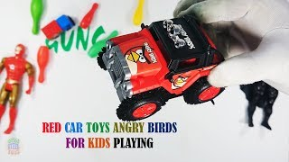 Red Color Car Toys Angry Birds For Kids Playing - Toys Cars For Kids