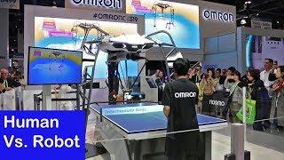 CES 2019 | Human Vs. Robot at Ping Pong | Omron Robotics | SmartReview.com