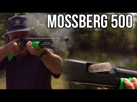 Mossberg 500 pump action shotgun- fast shooting and review with Jerry Miculek
