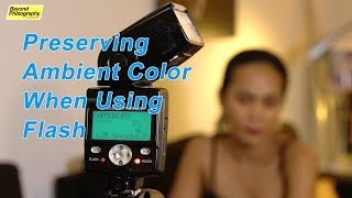 Tricks for using FLASH without KILLING Ambient Color