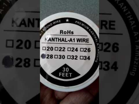 Kanthal A1 Resistance Wire 28 AWG