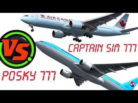 Captain Sim 777 vs POSKY 777 Model FSX HD