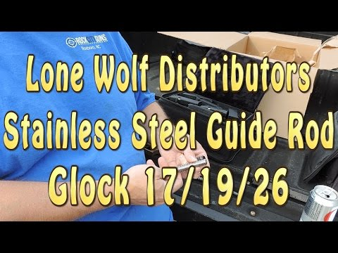 Lone Wolf Stainless Steel Guide Rod Assembly for Glock Pistols