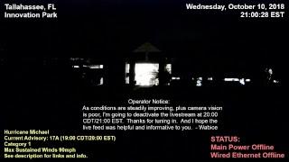 Hurricane Michael - Tallahassee, FL; Innovation Park Live Camera