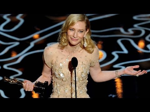 Cate Blanchett Calls Out Julia In Best Actress Oscar Speech 2014 video