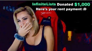 Donating $1,000 To Random Hot Twitch Streamers