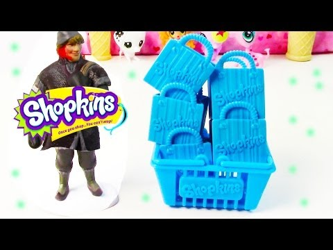 Shopkins Blind Bag Disney Frozen Kristoff 5 Pack Opening Surprise Mystery Kawaii Food Toy Review