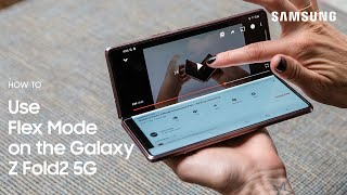 Galaxy Z Fold2 5G: How to Use Flex Mode | Samsung