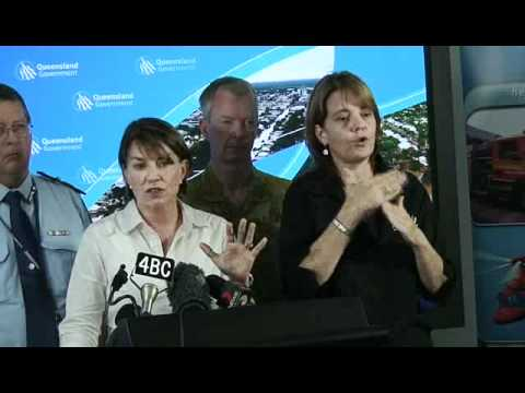Media Conference -  9:30am, Speaker Premier Anna Bligh, Thursday Jan 13