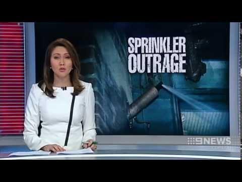 Sprinkler Outrage   9 News Perth
