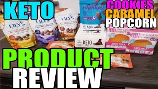 KETO PRODUCT REVIEW-LILLY'S CARAMELS, POPCORN, AND PEANUTS! LOW CARB COOKIES, HIGH KEY BROWNIES, AND