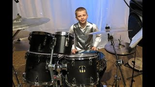 "Caravan - Drum solo - Drummer Daniel Varfolomeyev 12 years  and  Orchestra ""Little Band"""
