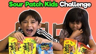 Sour Patch Kids Challenge Fun DIY | Foodie Babies Nico & Suri