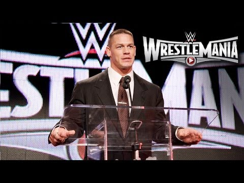 WWE World Heavyweight Champion John Cena speaks at the WrestleMania 31 Press Conference